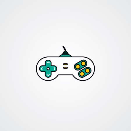 player controls: joystick video game console theme vector art illustration