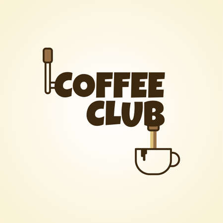 cosiness: coffee cafe sign logo theme vector art illustration
