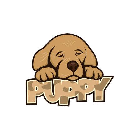 friend  nobody: cute little puppy Illustration