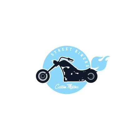 bicicleta vector: moto chopper personalizada ejemplo del arte del vector de la bicicleta Vectores