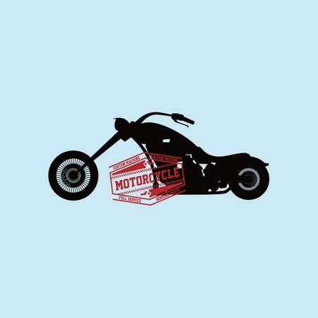 motocycle: custom motorcycle chopper bike vector art illustration
