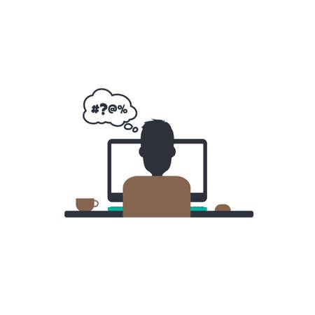 guys: designer programmer computer theme vector art illustration