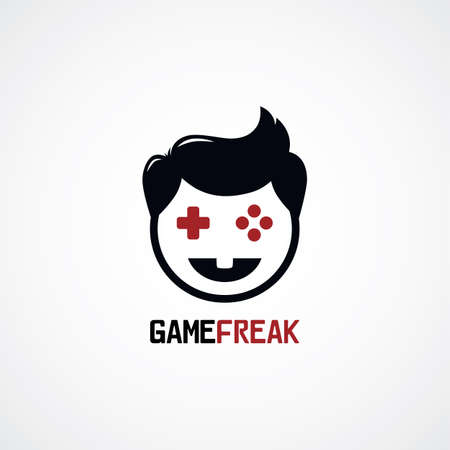freaky: game freak video game joystick  vector illustration Illustration