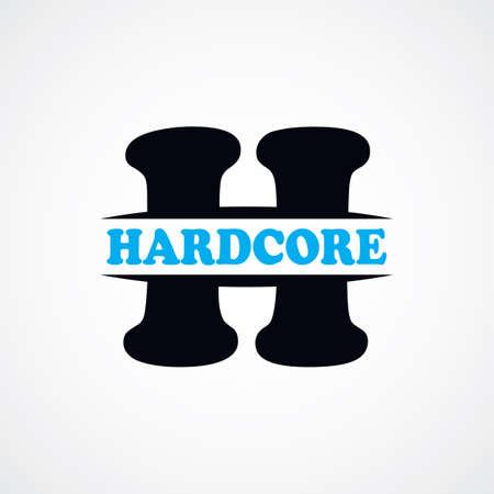 hardcore: letter H  sign theme vector art illustration