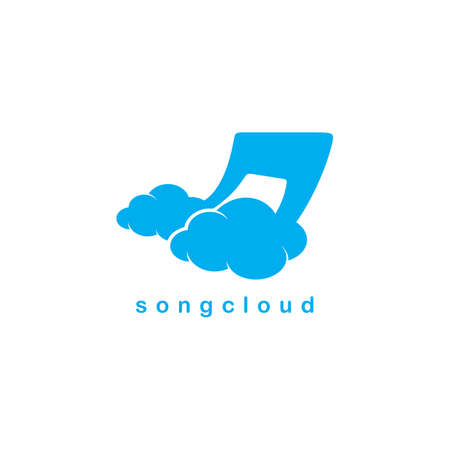 global settings: song cloud storage theme vector art illustration