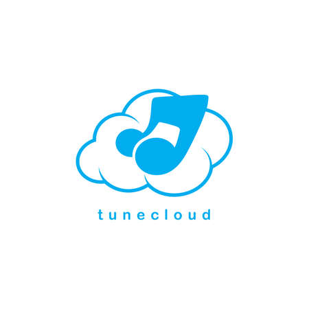song: song cloud storage theme vector art illustration