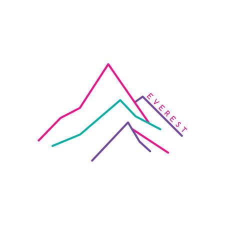 everest: great mountain range theme vector art illustration
