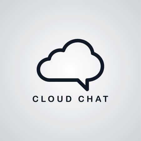 ftp: chat cloud theme vector art graphic illustration