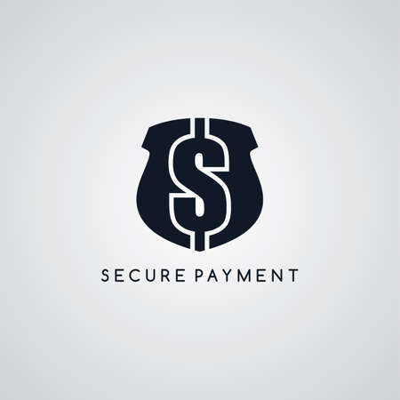 secure payment: secure payment icon protection theme vector art illustration