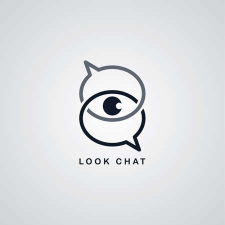 look at: look chat   theme vector art illustration Illustration
