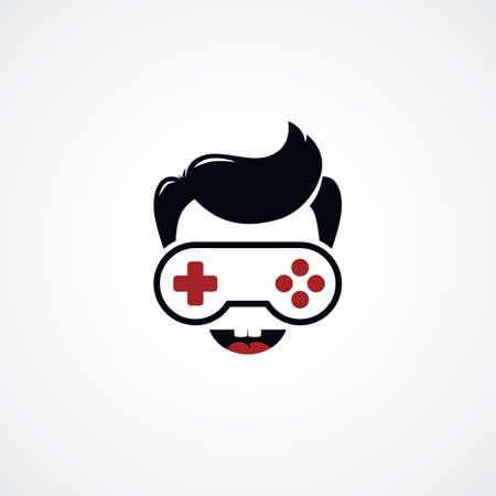 freak: game freak video game joystick   vector illustration Illustration