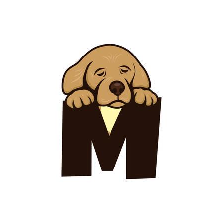 friend  nobody: cute little puppy theme vector art illustration Illustration
