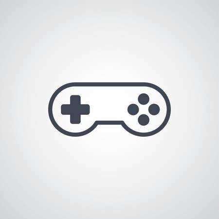 console: joystick game console theme vector art illustration