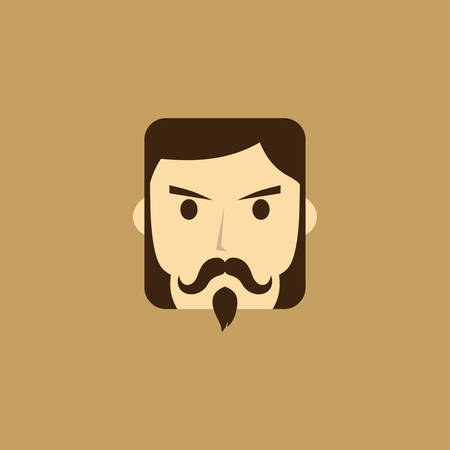 mangentleman avatar portrait icon vector art illustration