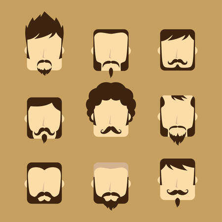 good looking: gentleman avatar portrait icon theme vector art illustration