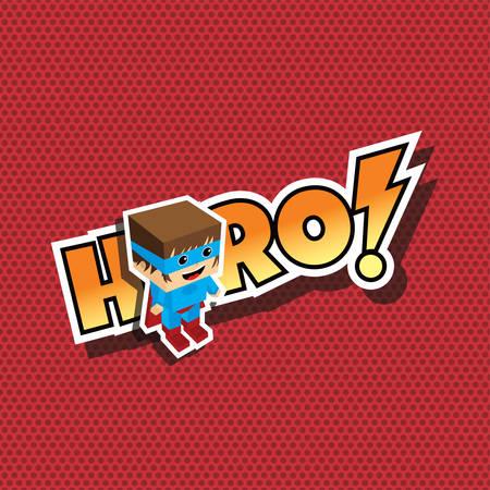 belt up: great superhero cartoon theme vector art illustration Illustration