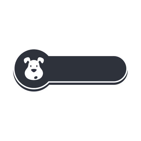 friend  nobody: puppy dog banner template vector art illustration