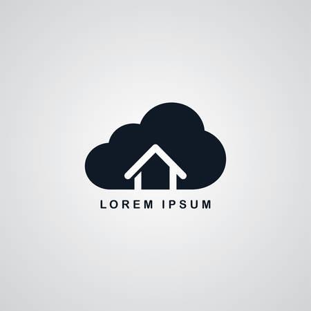 host: host cloud home theme vector art illustration