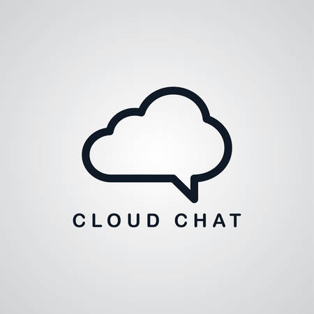 ftp servers: chat cloud theme vector art graphic illustration
