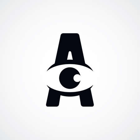 atheist: letter A sign theme vector art illustration