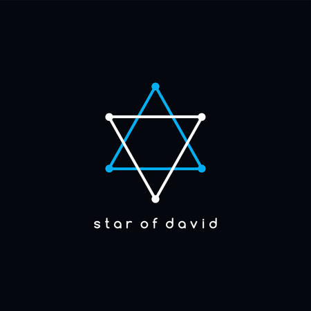 david star: david star outline vector trace theme Illustration