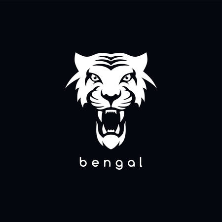 Tigre de Bengala blanco ilustración, vector