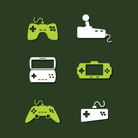 handheld device: game console joystick controller vector art illustration