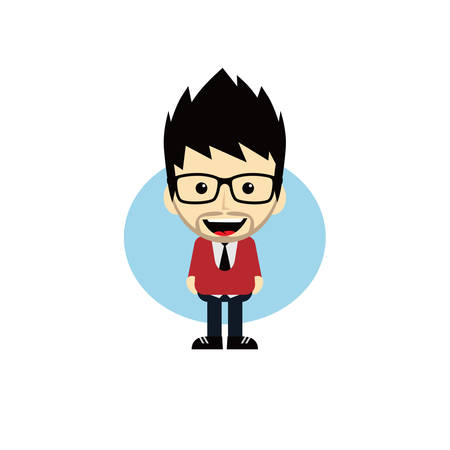 cheesy: geek cartoon nerd character theme vector art illustration