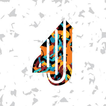 masjid: islamic abstract calligraphy art theme vector illustration Illustration