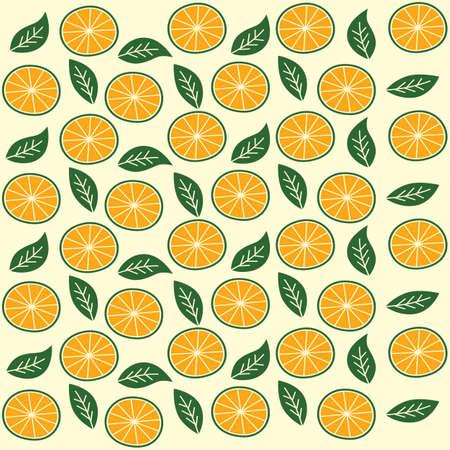 Orange Thema Vektorillustrationen Muster Obst