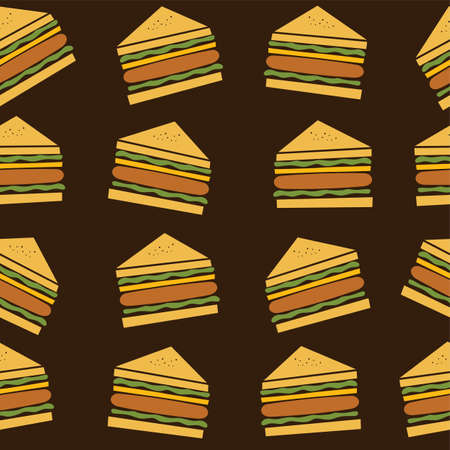 peppar: delicious sandwich food theme vector art illustration Illustration