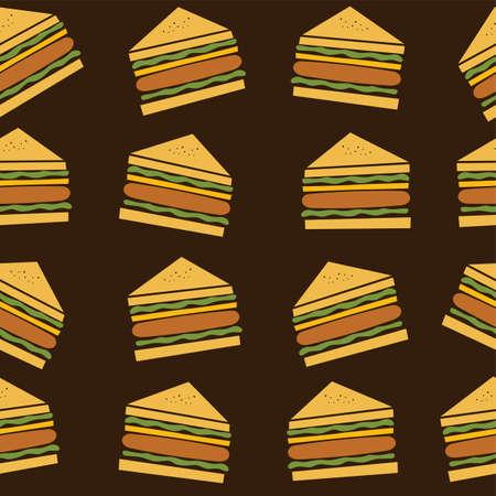 peppar: delicious sandwich food theme vector art illustration Illustration
