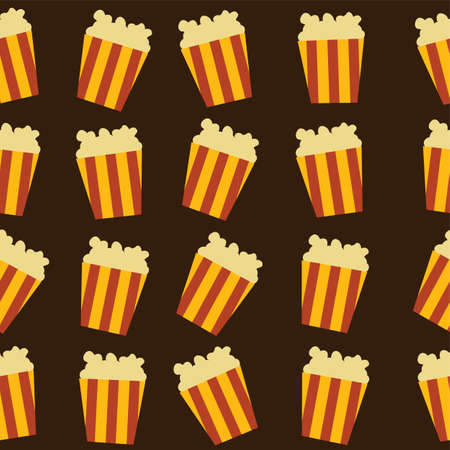 tasty: tasty pop corn theme vector art illustration