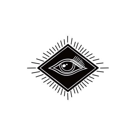 one eye: one eye symbol theme vector art illustration
