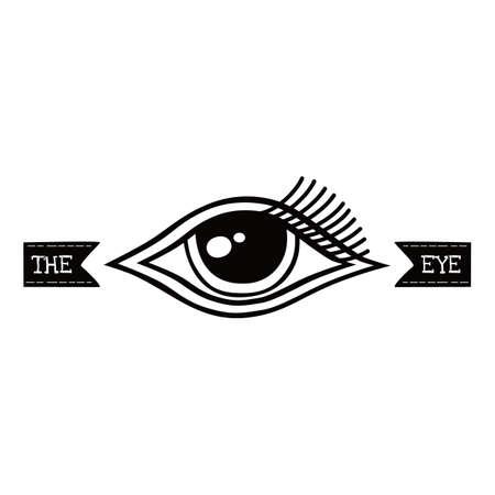 One Eye Symbol Theme Vector Art Illustration Royalty Free Cliparts
