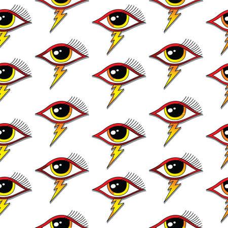 one eye: seamless one eye pattern theme vector art illustration