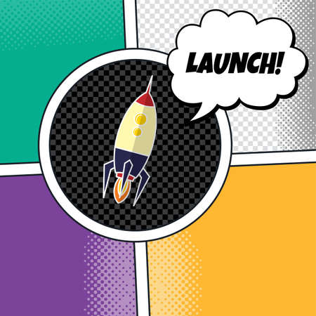 stabilizer: rocket ship launch theme vector art illustration Illustration