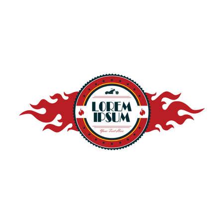 vintage motorcycle badge theme vector art illustration