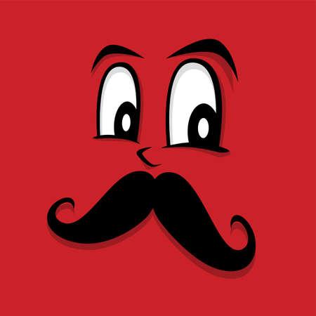 lurk: retro hipster guy face theme vector art illustration