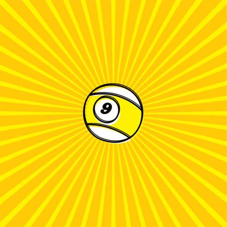 billiard ball: billiard ball sketch doodle theme vector art Illustration