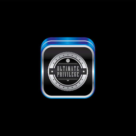 art product: metal plate product quality badge label theme icon button vector art illustration Illustration