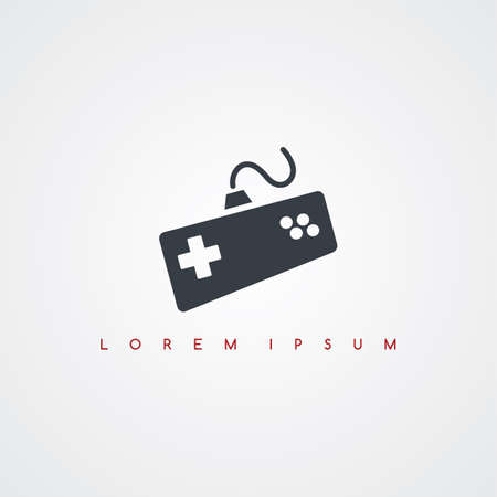 console: video game console icon sign logotype theme vector art illustration