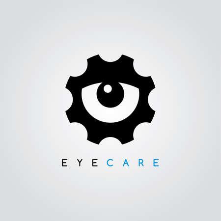 modern innovative: cog setting service logo art theme vector illustration