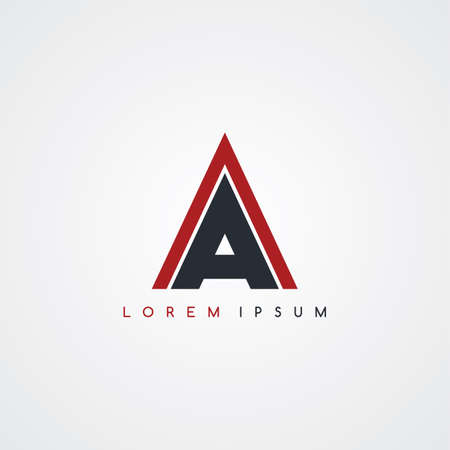 linked: initial letter linked uppercase logo black red in white background Illustration
