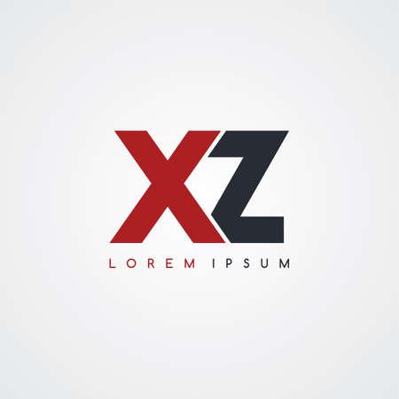 linked: initial letter linked uppercase logo black red in white background Illustration