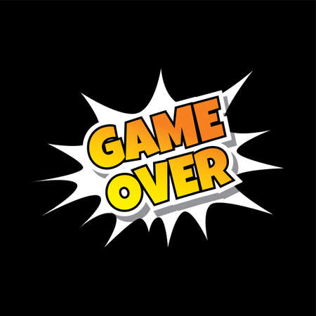 over: Game Over Comic Speech Bubble Cartoon Game Assets Illustration