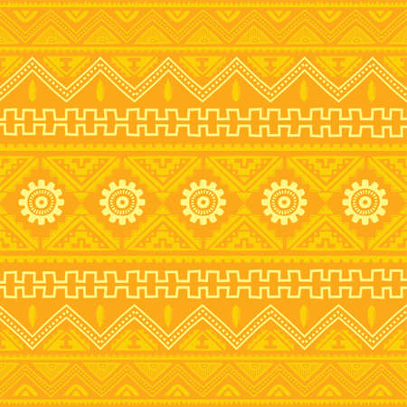 orange native american ethnic pattern theme vector art