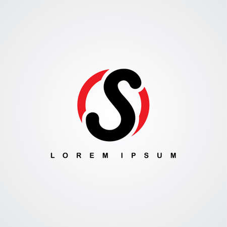 linked: initial letter linked uppercase red black theme vector art