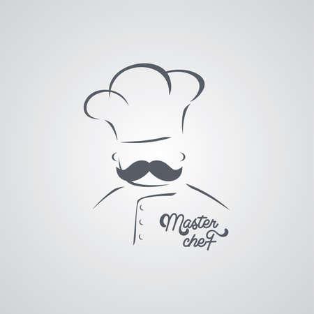 master chef: italian mustache guy master chef theme vector art