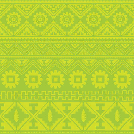 persia: light green native american ethnic pattern theme vector art